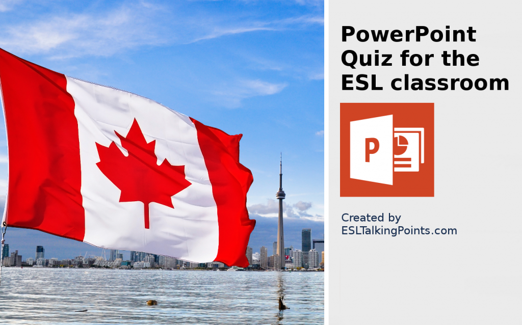 Canada TEFL/ESL/EFL PowerPoint Jeopardy Country Quiz Multiple Choice
