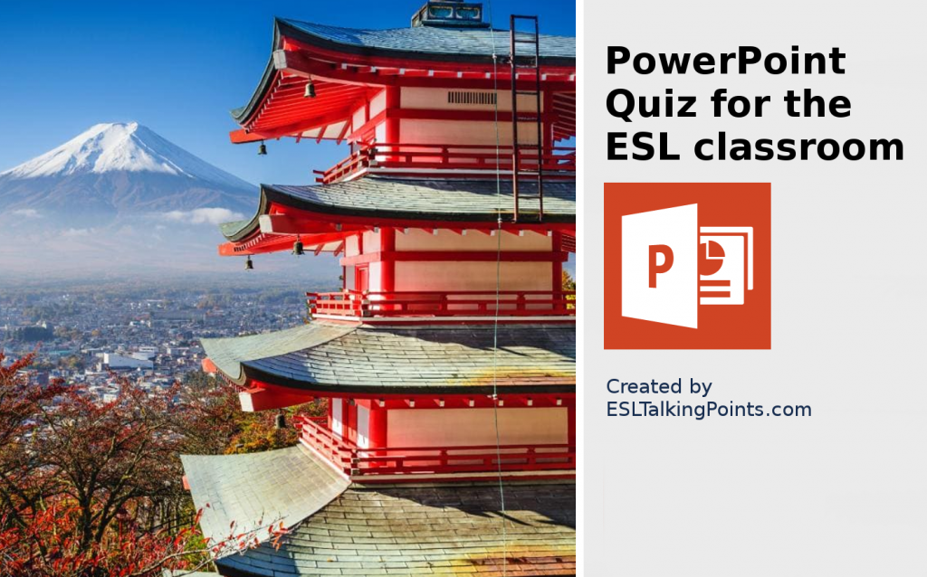 Japan TEFL/ESL/EFL PowerPoint Jeopardy Country Quiz Multiple Choice