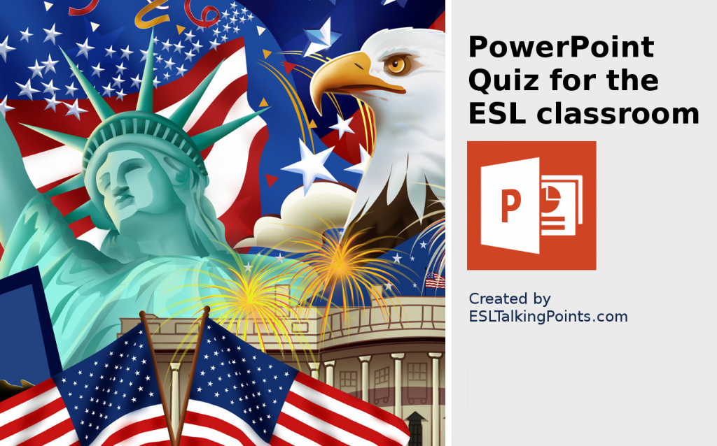 United States TEFL/ESL/EFL PowerPoint Jeopardy Country Quiz Multiple Choice